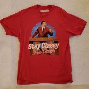 2/$25 Anchorman Red T-shirt